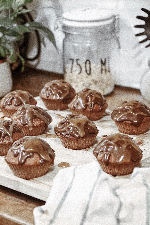 Cupcake chocolat coeur caramel beurre salé